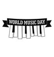 music day piano key icon simple style vector image vector image