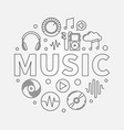 music round in thin line style vector image vector image
