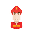 object fireman avatar vector image vector image