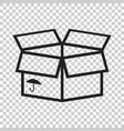 open box icon shipping pack flat on isolated vector image