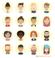 People avatars set vector image vector image