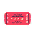 pink ticket entry admission icon coupon vector image