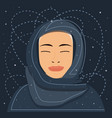 portrait a mystical young muslim woman vector image