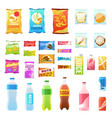 product for vending tasty snacks sandwich biscuit vector image vector image