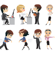 profession office characters vector image
