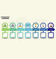 retro timeline infographic with set of icons vector image vector image