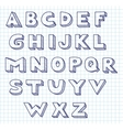 Scribble alphabet vector | Price: 1 Credit (USD $1)