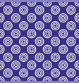 seamless pattern with dots on retro navy blue vector image vector image