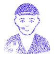 service operator icon grunge watermark vector image vector image