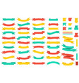 set banners colored ribbons isolated on a vector image