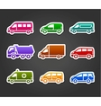 Set of sticky stickers transport color signs vector image vector image