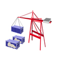 Shipping Container Being Hoisted By A Crane vector image vector image