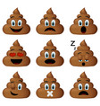 shit icon set vector image vector image