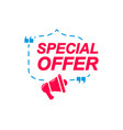 special offer labels speech bubbles vector image vector image