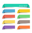 sticky note multicolor and floating paper design vector image