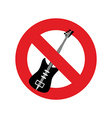 Stop music Ban for rock music Red forbidding vector image