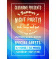 summer night party flyer or poster design vector image