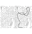 Swing maze vector image vector image