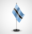 Table flag of Botswana vector image vector image