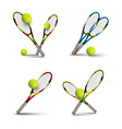 tennis symbols as design elements tennis balls vector image vector image
