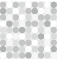 Tile pattern with big white grey and black polka vector image
