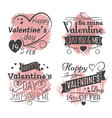 valentines day banners on grunge colorful back vector image vector image