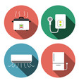 water heater air conditioner rice cooker icons vector image vector image