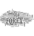 what moves the forex markets text word cloud vector image vector image