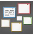 Colored Frames Design vector image