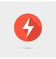 Lightning icon red circle on gray background vector image