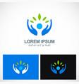 ecology leaf organic safe environment logo vector image