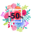 Sale poster with percent discount vector image