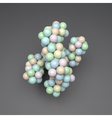 3D Molecule Structure Science Chromosome vector image vector image