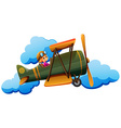 A boy on a plane vector image vector image