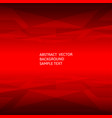 abstract red geometric polygonal background with vector image vector image