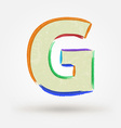 Alphabet letter G Watercolor paint design element vector image vector image