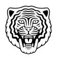angry tiger head retro mascot logo vector image vector image