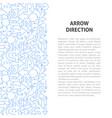 arrow direction line pattern concept vector image vector image
