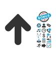 Arrow Up Flat Icon with Bonus vector image vector image
