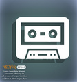 audiocassette icon On the blue-green abstract vector image vector image