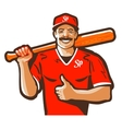 baseball logo player or sport icon vector image vector image