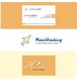 beautiful aeroplane logo and business card vector image vector image