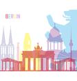 Berlin skyline pop vector image vector image