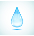 Big drop vector image vector image