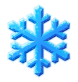blue shining snowflake vector image vector image