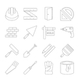 Building line icons set vector image vector image