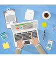 Businessman Workplace Desk vector image vector image