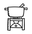 camping stove color icon design sign vector image