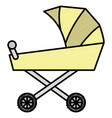 cart baby isolated icon vector image vector image
