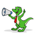 cartoon shouting dino vector image vector image